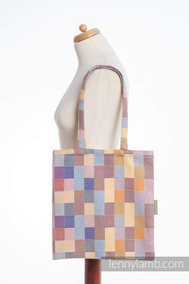 Shopping bag made of wrap fabric (100% cotton) - QUARTET