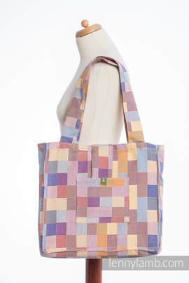 Shoulder bag made of wrap fabric (100% cotton) - QUARTET  - standard size 37cmx37cm