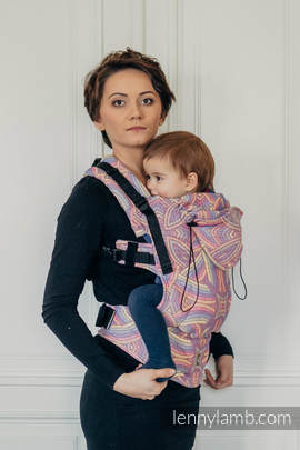 Ergonomic Carrier, Toddler Size, jacquard weave 100% cotton - wrap conversion from ILLUMINATION LIGHT - Second Generation