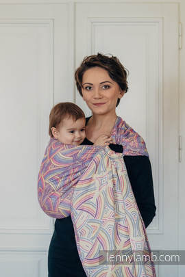 Ringsling, Jacquard Weave (100% cotton) - with gathered shoulder - ILLUMINATION LIGHT