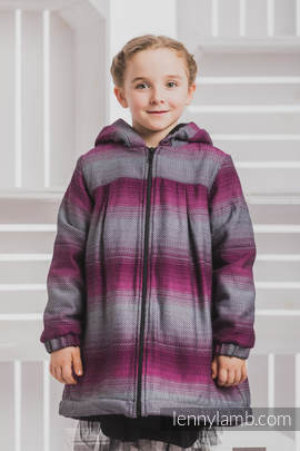 Girls Coat - size 110 - LITTLE HERRINGBONE INSPIRATION with Black