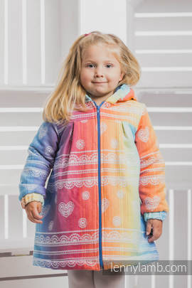 Girls Coat - size 116 - RAINBOW LACE with Blue