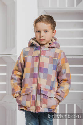 Boys Coat - size 110 - QUARTET with Cafe Latte