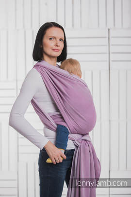 Baby Wrap, Herringbone Weave (100% cotton) - LITTLE HERRINGBONE PURPLE - size XL (grade B)