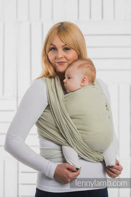 Baby Wrap, Herringbone Weave (100% cotton) - LITTLE HERRINGBONE OLIVE GREEN - size XL