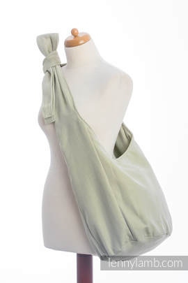 Hobo Bag made of woven fabric (100% cotton) - LITTLE HERRINGBONE OLIVE GREEN