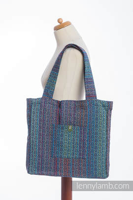 Shoulder bag made of wrap fabric (100% cotton) - BIG LOVE - SAPPHIRE - standard size 37cmx37cm