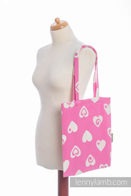 Shopping bag (made of wrap fabric) - SWEETHEART PINK & CREME 2.0 (grade B)