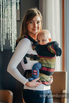 Ergonomic Carrier, Toddler Size, moulin weave 100% cotton - wrap conversion from MOULIN - ARDENT - Second Generation