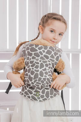 Doll Carrier made of woven fabric, 100% cotton - GIRAFFE DARK BROWN & CREME