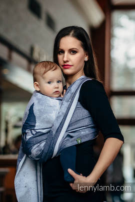 Baby Wrap, Jacquard Weave (100% cotton) - MOONLIGHT WOLF - size XL
