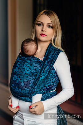 Baby Wrap, Jacquard Weave (100% cotton) - COLORS OF NIGHT - size XL
