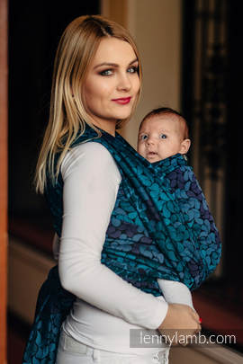 Baby Wrap, Jacquard Weave (100% cotton) - COLORS OF NIGHT - size M