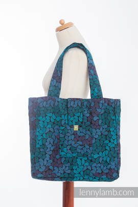 Shoulder bag made of wrap fabric (100% cotton) - COLORS OF NIGHT - standard size 37cmx37cm