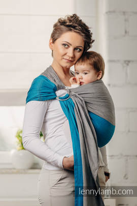 Basic Line Ring Sling - SODALITE - 100% Cotton - Broken Twill Weave -  with gathered shoulder (grade B)