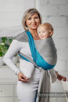Basic Line Baby Sling - SODALITE, Broken Twill Weave, 100% cotton, size M (grade B)