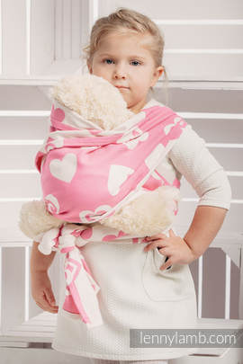 Doll Sling, Jacquard Weave, 100% cotton - SWEETHEART PINK & CREME 2.0