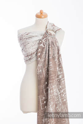 Ringsling, Jacquard Weave (100% cotton) - SYMPHONY CREME & BROWN