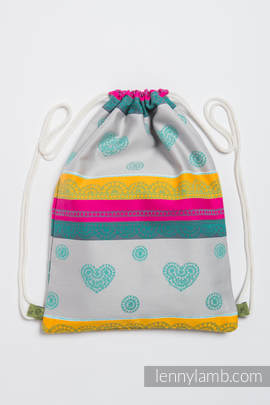 Sackpack made of wrap fabric (100% cotton) - MINT LACE 2.0 - standard size 35cmx45cm