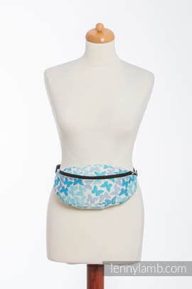 Waist Bag made of woven fabric, (100% cotton) - BUTTERFLY WINGS BLUE