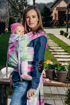 WRAP-TAI carrier Toddler with hood/ jacquard twill / 100% cotton / ROSE BLOSSOM