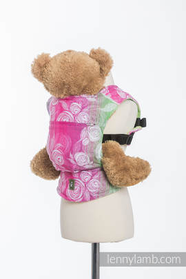 Doll Carrier made of woven fabric, 100% cotton - ROSE BLOSSOM