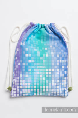 Sackpack made of wrap fabric (100% cotton) - MOSAIC - AURORA - standard size 35cmx45cm