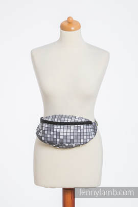Waist Bag made of woven fabric, (100% cotton) - MOSAIC - MONOCHROME