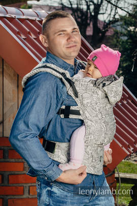 Ergonomic Carrier, Toddler Size, jacquard weave 100% cotton - wrap conversion from PANORAMA  - Second Generation