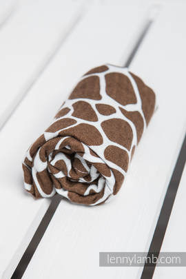 Muslin Square - GIRAFFE BROWN & CREAM
