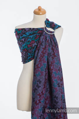 Ringsling, Jacquard Weave (100% cotton) - BUTTERFLY WINGS at NIGHT