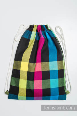 Sackpack made of wrap fabric (100% cotton) - DIAMOND PLAID- standard size 35cmx45cm