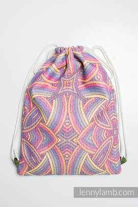 Sackpack made of wrap fabric (100% cotton) - ILLUMINATION LIGHT - standard size 35cmx45cm