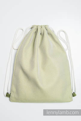 Sackpack made of wrap fabric (100% cotton) - LITTLE HERRINGBONE OLIVE GREEN - standard size 35cmx45cm