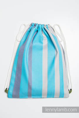 Sackpack made of wrap fabric (100% cotton) - MISTY MORNING - standard size 35cmx45cm