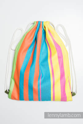 Sackpack made of wrap fabric (60% cotton 40% bamboo) - PINACOLADA - standard size 35cmx45cm