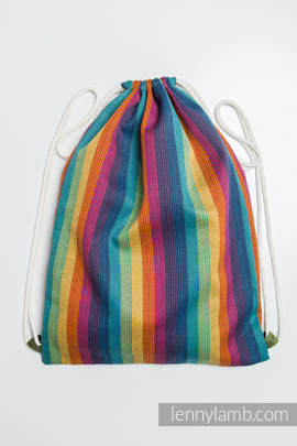 Sackpack made of wrap fabric (60% cotton 40% bamboo) - PARADISO - standard size 35cmx45cm