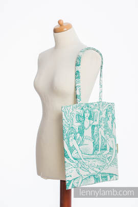 Shopping bag made of wrap fabric (100% cotton) - MERMAID POND 2.0