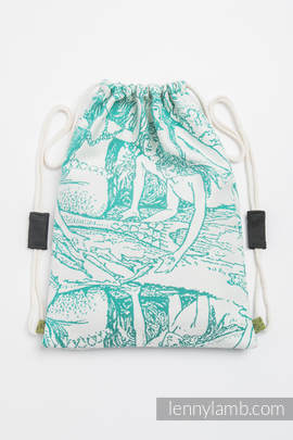 Sackpack made of wrap fabric (100% cotton) - MERMAID POND 2.0 - standard size 35cmx45cm