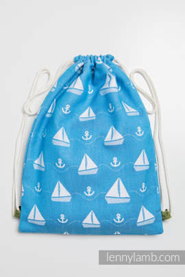 Sackpack made of wrap fabric (100% cotton) - HOLIDAY CRUISE - standard size 35cmx45cm