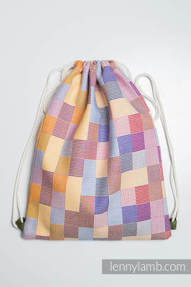 Sackpack made of wrap fabric (100% cotton) - QUARTET - standard size 35cmx45cm