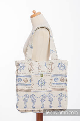 Shoulder bag made of wrap fabric (100% cotton) - BALTICA 2.0  - standard size 37cmx37cm (grade B)