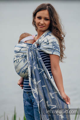 Ringsling, Jacquard Weave (100% cotton) - with gathered shoulder - PARADISE ISLAND