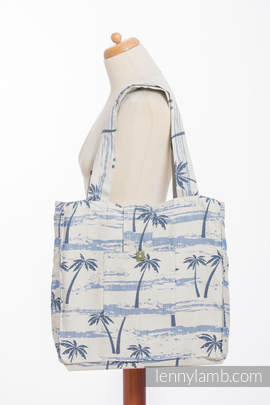 Shoulder bag made of wrap fabric (100% cotton) - PARADISE ISLAND - standard size 37cmx37cm