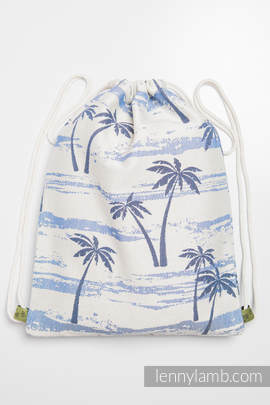 Sackpack made of wrap fabric (100% cotton) - PARADISE ISLAND - standard size 35cmx45cm