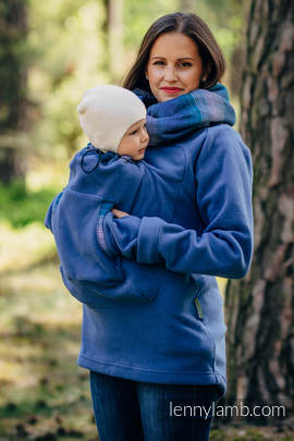 Fleece Babywearing Sweatshirt 2.0 - size 4XL - blue with Little Herringbone Illusion