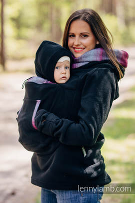 Fleece Babywearing Sweatshirt 2.0 - size 6XL - black with Little Herringbone Inspiration