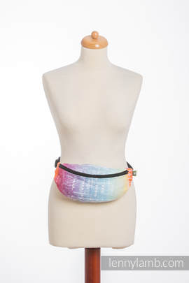 Waist Bag made of woven fabric, (100% cotton) - SYMPHONY RAINBOW LIGHT