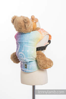 Doll Carrier made of woven fabric, 100% cotton - SYMPHONY RAINBOW LIGHT
