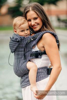 Ergonomic Carrier, Baby Size, jacquard weave 100% cotton - wrap conversion from LITTLE LOVE HARMONY, Second Generation